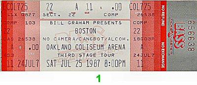 Boston Vintage Ticket