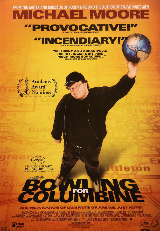 Image result for bowling for columbine poster