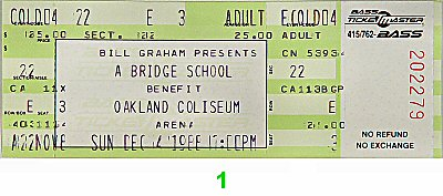Bridge School Benefit Vintage Ticket