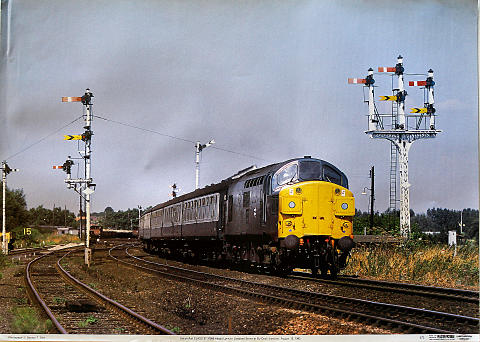 British Rail Class 37 37099 King's Lynn Poster