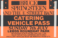 Bruce Springsteen & the E Street Band Backstage Pass