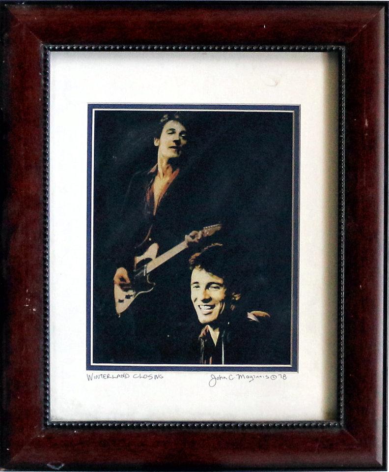 Bruce Springsteen Framed Vintage Print