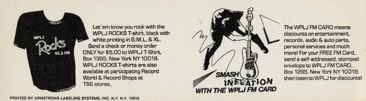 Bruce Springsteen Sticker reverse side