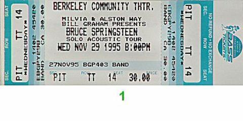 Bruce Springsteen Vintage Ticket