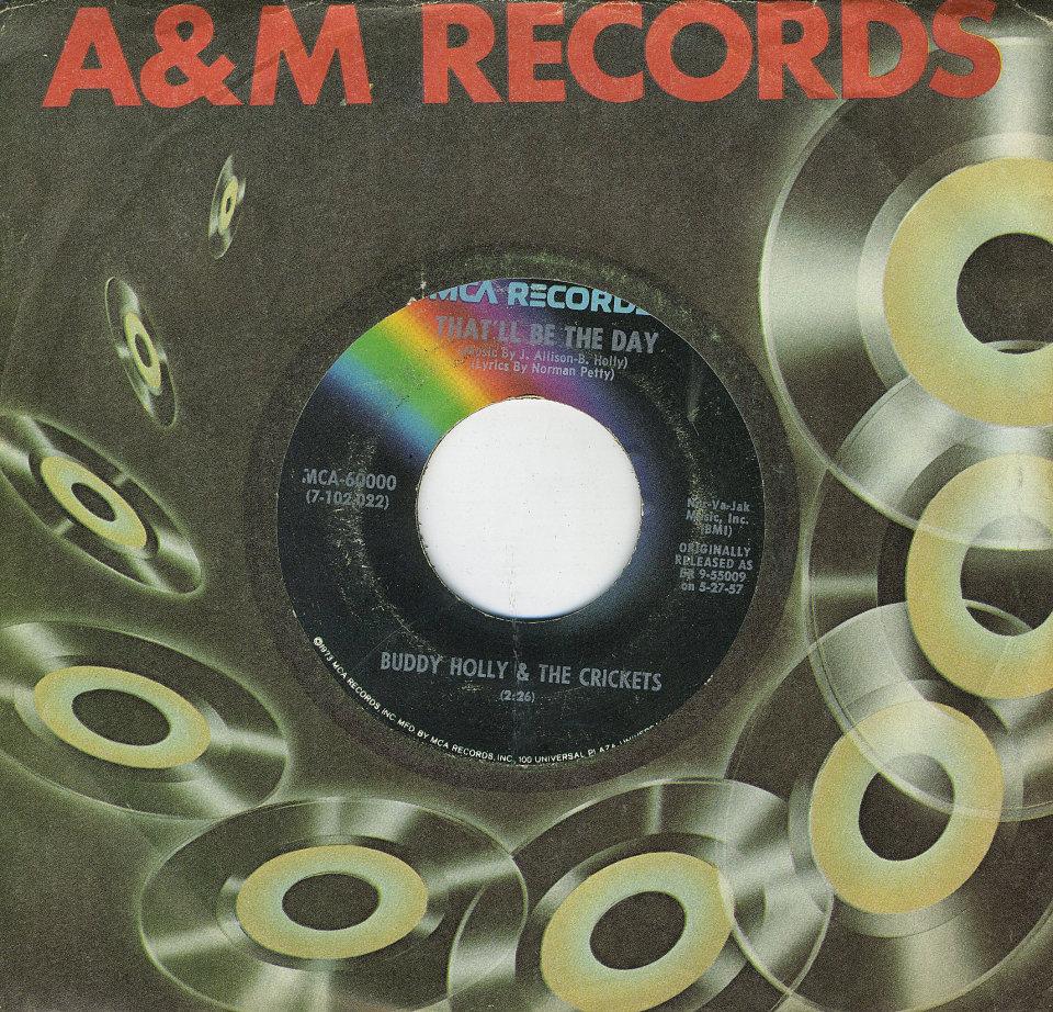 """Buddy Holly & The Crickets Vinyl 7"""" (Used)"""