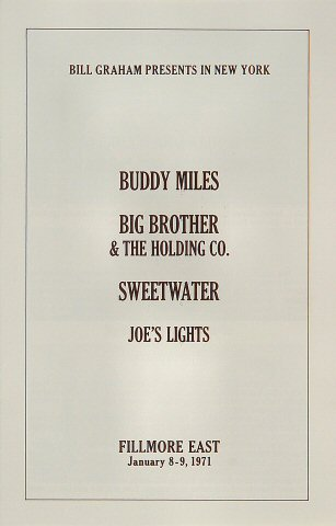 Buddy Miles Program reverse side