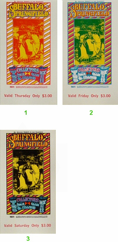 Buffalo Springfield Vintage Ticket