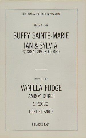 Buffy Sainte-Marie Program reverse side