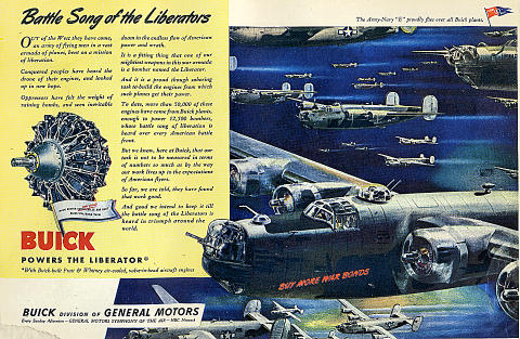 Buick: Battle Song Of The Liberators Vintage Ad