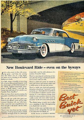 Buick Boulevard Vintage Ad