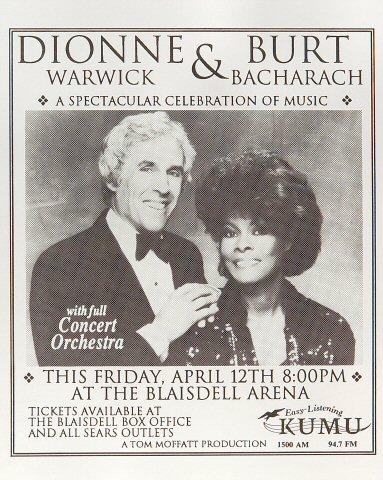 Burt Bacharach Handbill