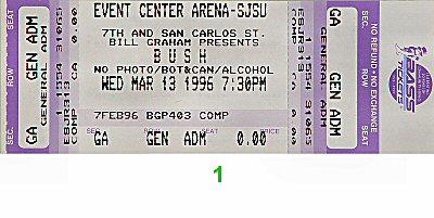 Bush Vintage Ticket