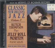 Butch Thompson Plays Jelly Roll Morton Piano Solos CD