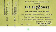 Buzzcocks Vintage Ticket