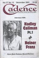 Cadence Magazine December 2001 Magazine