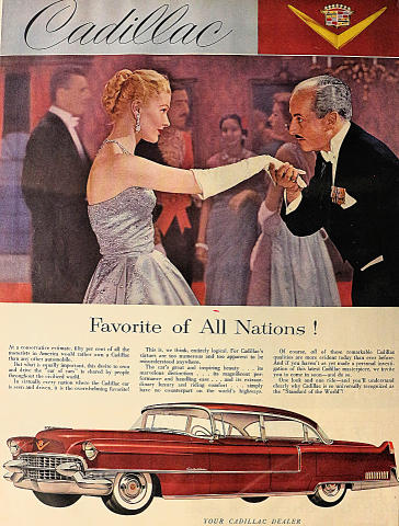 Cadillac: Favorite Of All Nations! Vintage Ad