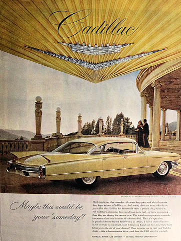 "Cadillac: Maybe This Could Be Your ""Someday"" Vintage Ad"