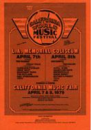 California World Music Festival Handbill