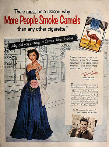 Camel Cigarettes: More People Smoke Camels Vintage Ad