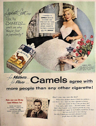Camel Cigarettes: You Try Camels Vintage Ad