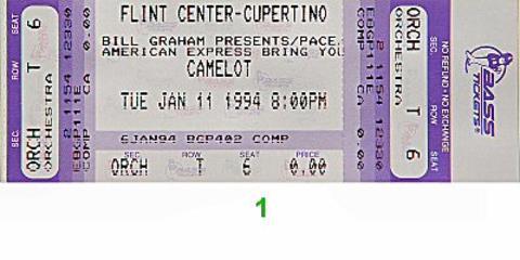 Camelot Vintage Ticket