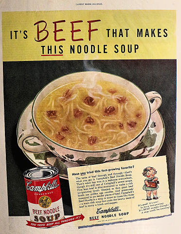 Campbell's Soup: It's Beef That Makes This Soup Vintage Ad