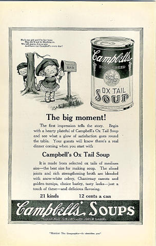 Campbell's Soup: The Big Moment! Vintage Ad