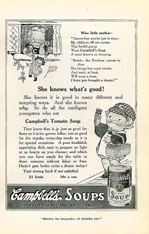 Campbell's Soups Vintage Ad