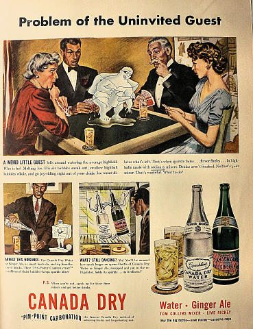 Canada Dry: Pin-Point Carbonation Vintage Ad