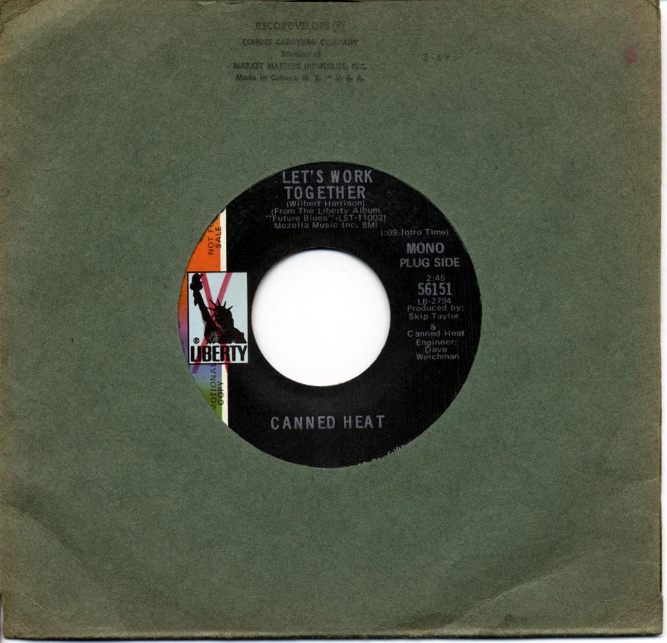 """Canned Heat Vinyl 7"""" (Used)"""
