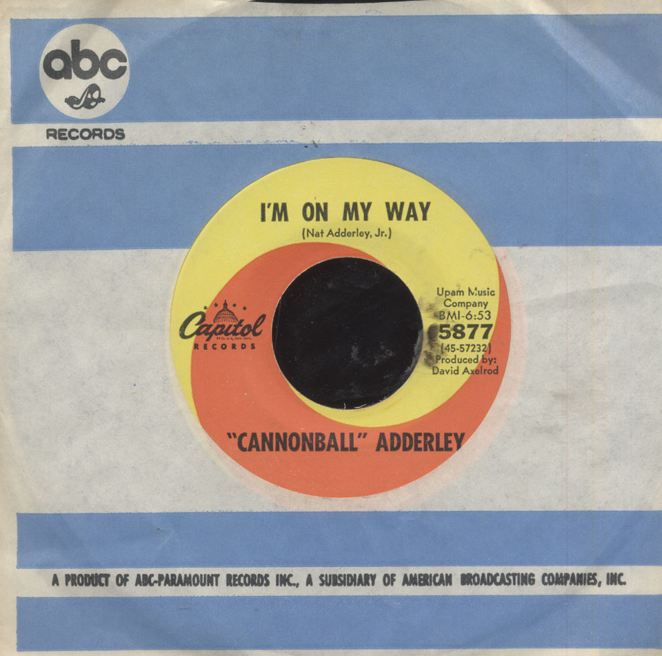 "Cannonball Adderley Vinyl 7"" (Used)"