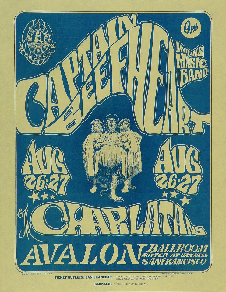 Captain Beefheart & The Magic Band Handbill