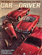 Car and Driver Magazine March 1963 Magazine