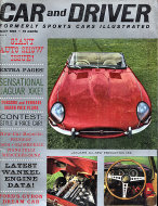 Car and Driver Magazine May 1961 Magazine