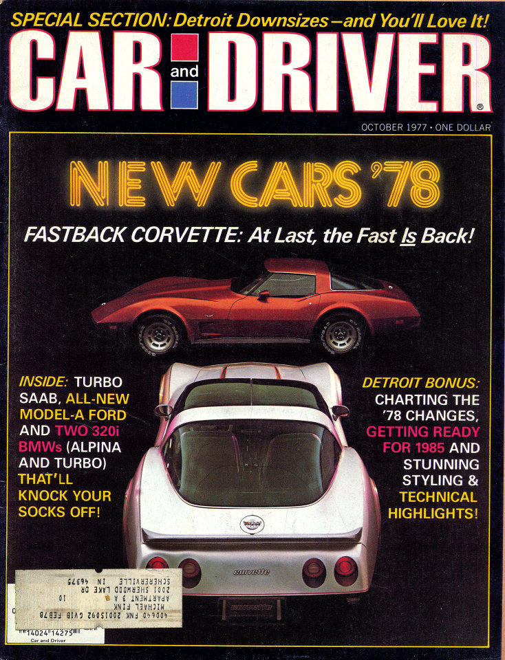 Car and Driver Magazine October 1977