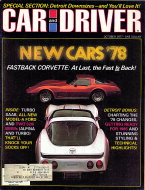 Car and Driver Vol. 23 No. 4 Magazine