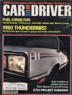 Car and Driver Vol. 25 No. 1 Magazine