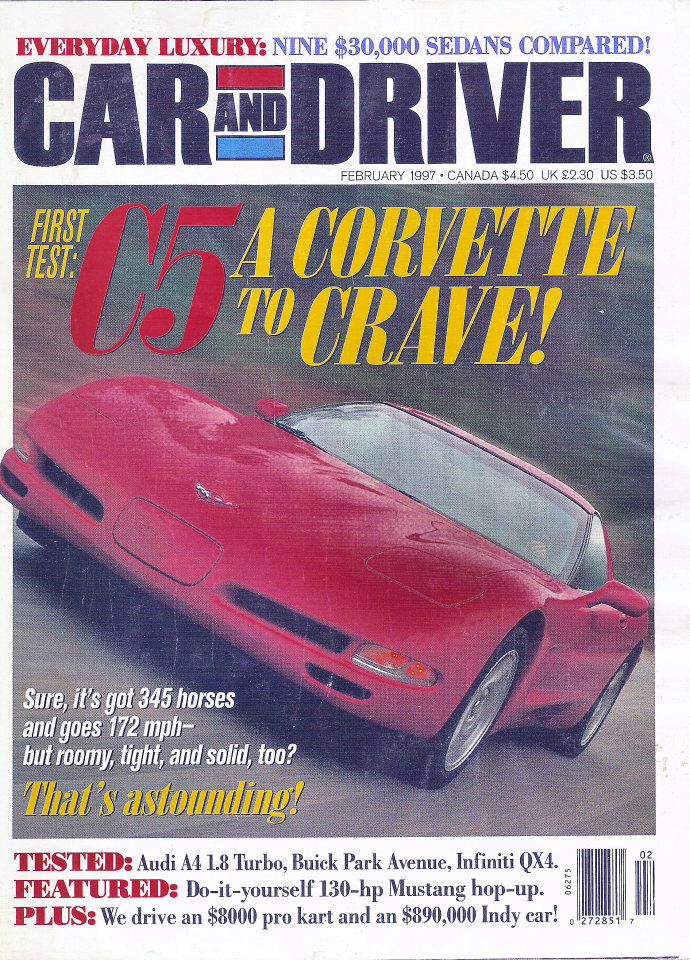 Car and driver vol 42 no 8 magazine feb 1 1997 at wolfgangs car and driver vol 42 no 8 solutioingenieria Images