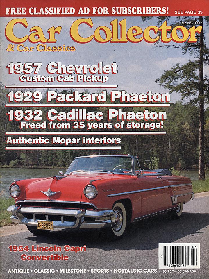 Car Collector & Car Classics Vol. XIII No. 3 Magazine, Mar 1, 1990 ...