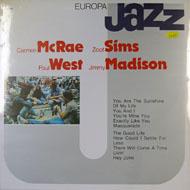 "Carmen McRae / Zoot Sims / Paul West / Jimmy Madison Vinyl 12"" (New)"