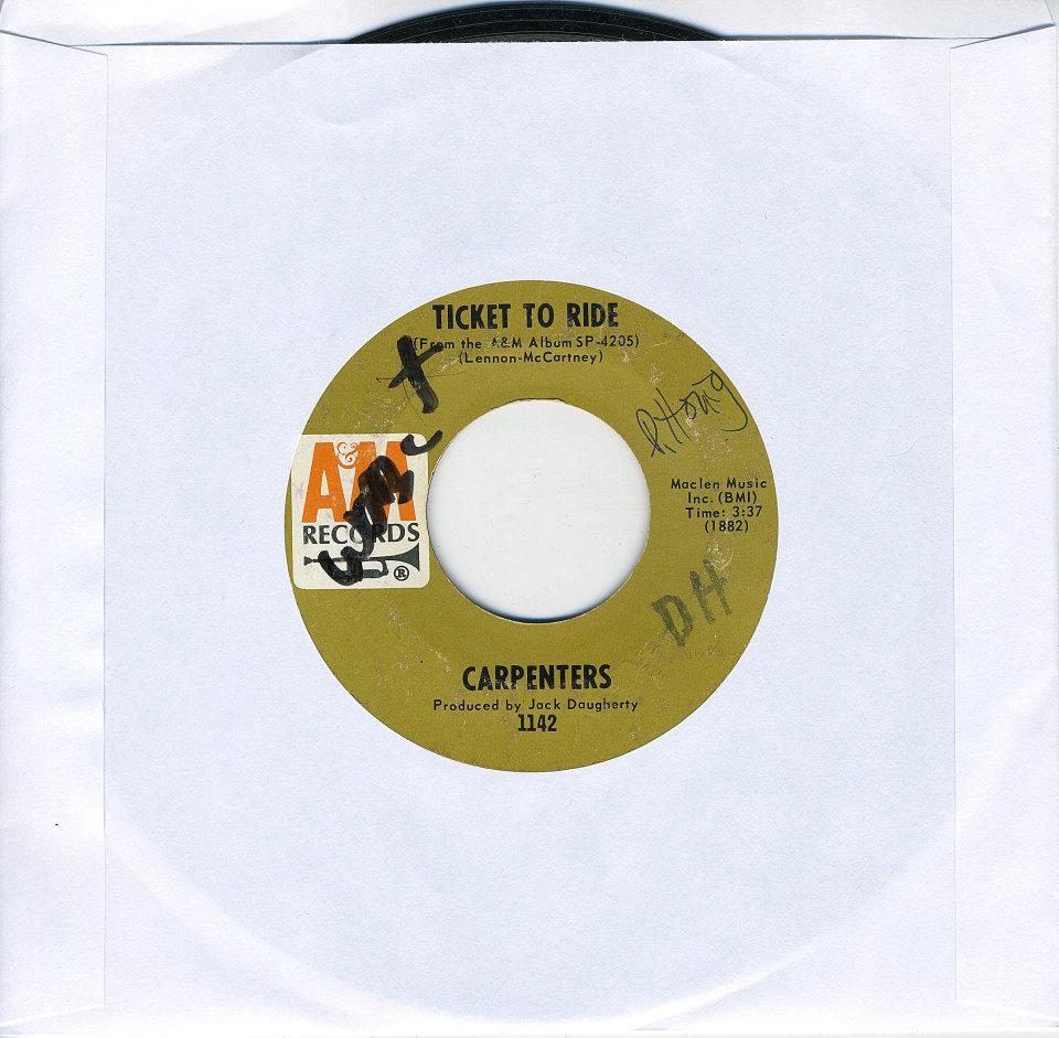"""Carpenters Vinyl 7"""" (Used)"""
