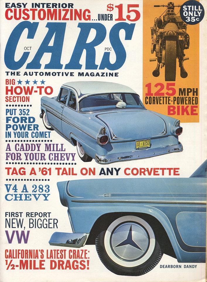 Cars Vol. 3 No. 5 Magazine, Oct 1, 1961 at Wolfgang\'s