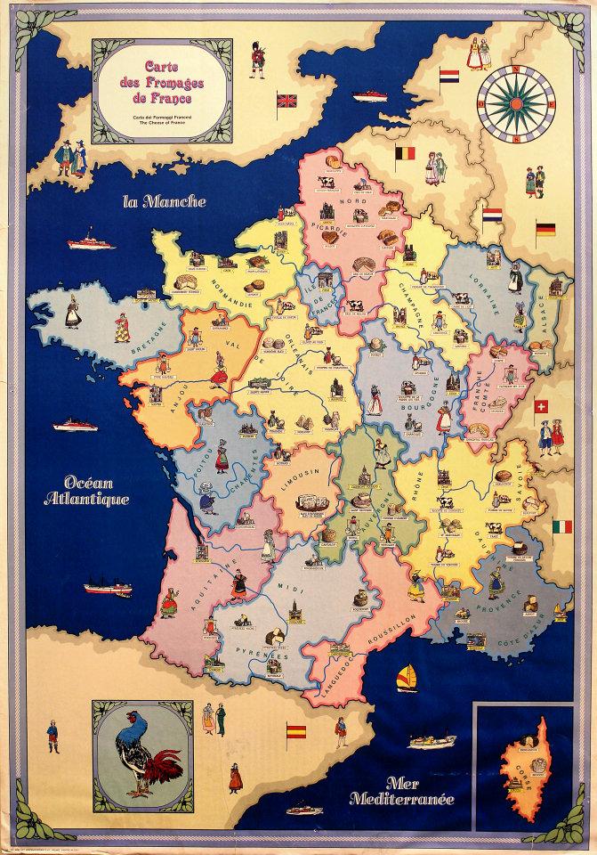 Carte des Fromages de France Vintage Concert Poster at Wolfgang's