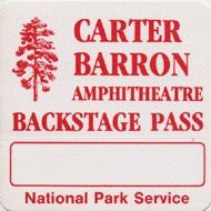 Carter Barron Amphitheatre Backstage Pass