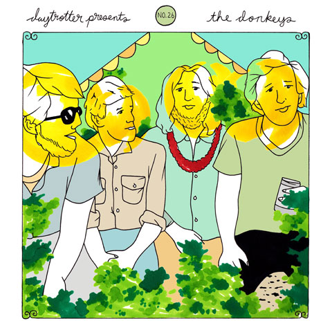 """Casiotone For The Painfully Alone / The Donkeys Vinyl 12"""" (New) reverse side"""