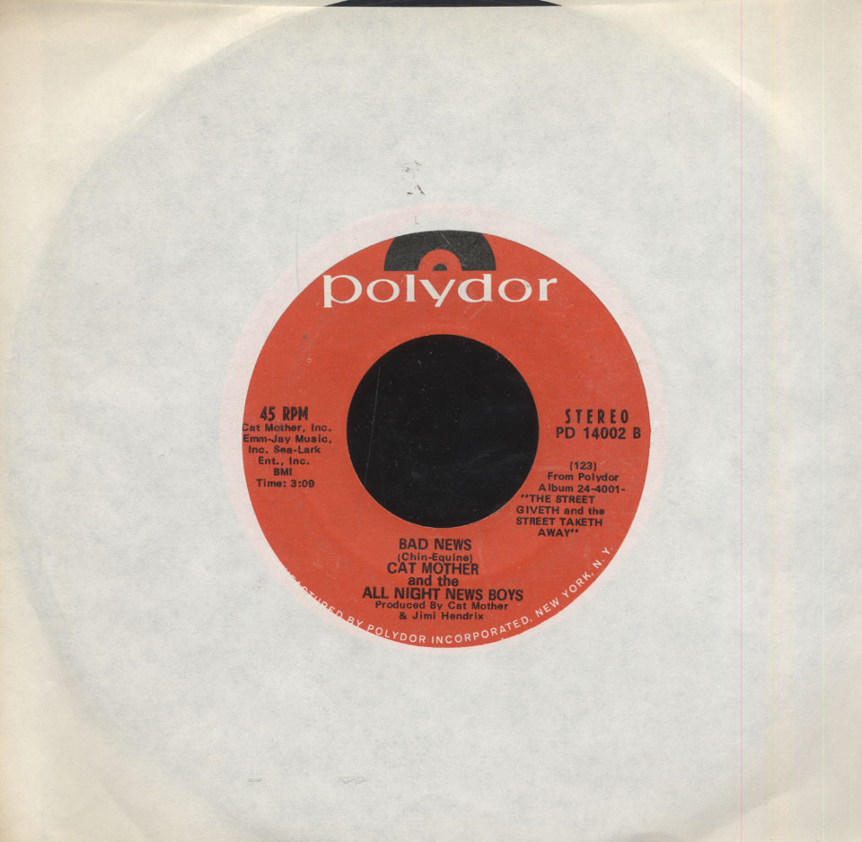 """Cat Mother & The All Night News Boys Vinyl 7"""" (Used)"""
