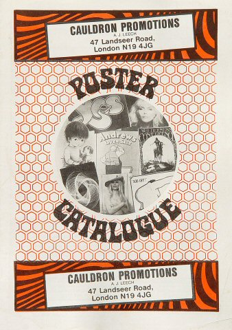 Cauldron Promotions Poster Catalogue Program