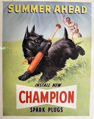 Champion Spark Plugs: Summer Ahead Vintage Ad