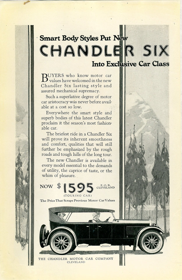 Chandler Six Vintage Ad, 1922 at Wolfgang\'s
