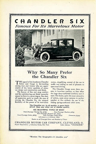Chandler Six Vintage Ad
